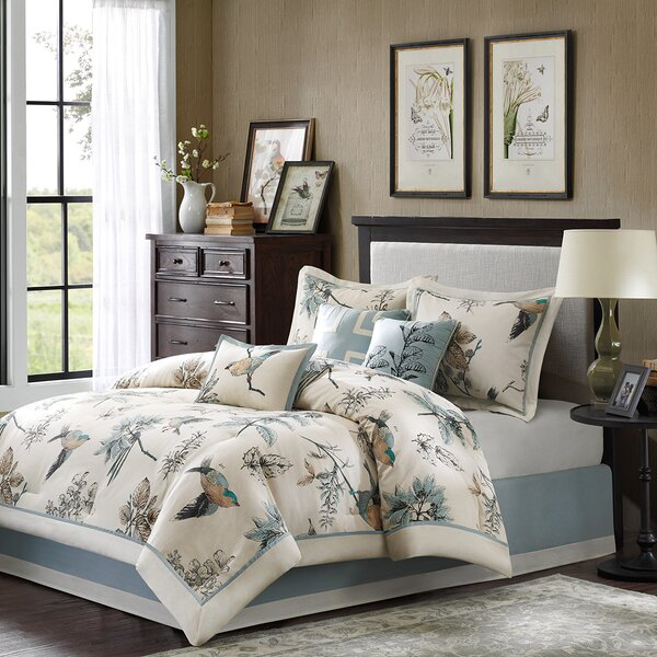 Silvia 180 Thread Count 100% Cotton Comforter Set by Darby Home Co
